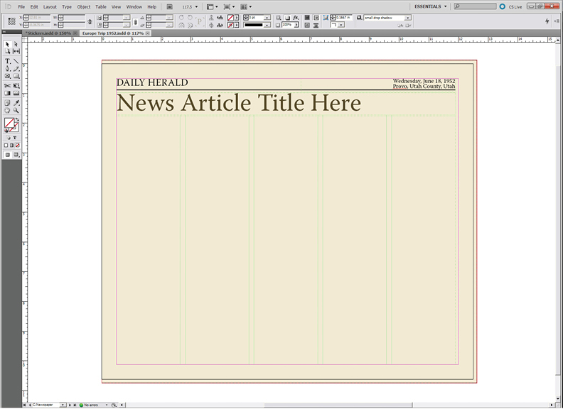 Blank Newspaper Template Powerpoint