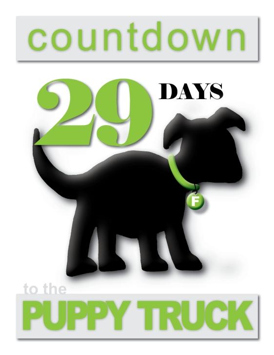 day 29 Puppy Truck Countdown
