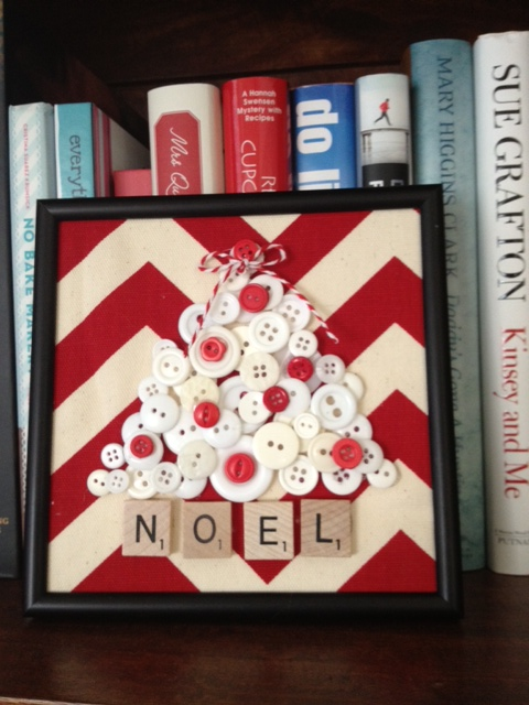 Noel button tree via Kay Lusnak